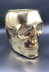 Bath Body Works 2021 Halloween Gold Skull Soap Holder Brand New