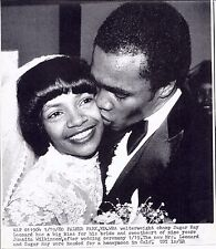 Sugar Ray Leonard  and Wife Wedding   photo archive press  print 1