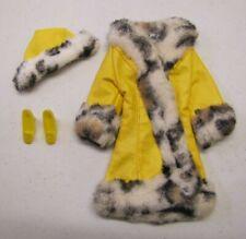 "Vintage Barbie Doll 1970 ""GREAT COAT"" #1459 Vinyl & Faux Fur Mod Outfit Animal"