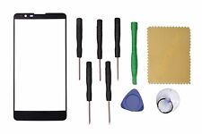 Black Outer Front Screen Glass Lens Replacement For LG Stylo 2 LS775+Tools