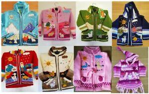 Peruvian Child Kids Jumper Cardigan Zip Hoodie Jacket Various Colour Styles
