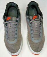 Nike Air Men's Running Shoes Gray/Orange Size 11.5