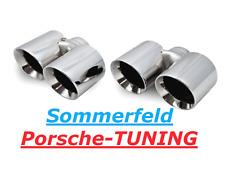 PORSCHE Carrera 997 mk1 + mk2 cromo doppio terminali di scarico cromo Double Tail Pipe