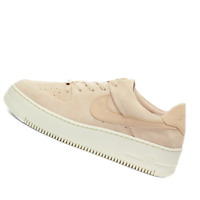 NIKE WOMENS Shoes Air Force 1 Sage Low - Particle Beige - AR5339-201