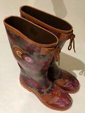 Desigual Women's Alile 3 high Rain Boot Autumn Floral size 38 EUR Ref:38AS224