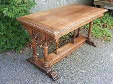 2201021 : Antique French Renaissance Carved Writing Desk Table w/ Cherubs