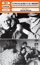 FICHE CINEMA : LE PAYS DU SILENCE ET DE L'OBSCURITE - Straubinger,Herzog 1971