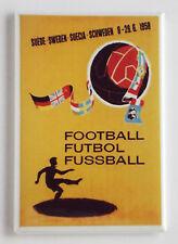 World Cup 1958 Sweden FRIDGE MAGNET (2 x 3 inches) soccer poster coupe du monde