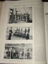 1896 NAVY SIGNALLERS SMALL ARM DRILL ON BOARD SHIP ETC