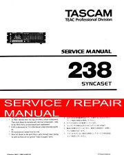 Tascam 238 [8] Track Service & Reparatur Handbuch Reparatur/Service Manual