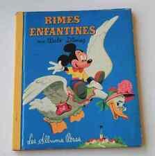 RARE Ancien livre Walt Disney Grands albums roses E0 Rimes enfantines 1957