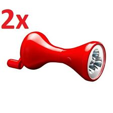 2x IKEA LJUSA Hand-Driven Wind-Up Manual Charge 3-LED Torch Flashlight