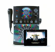 The Singing Machine Classic Karaoke System/CD+G/Bluetooth/RCA/2 Mics/LED Display