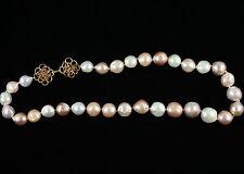 "Natural 18"" Multi Color Baroque Pearl necklace"