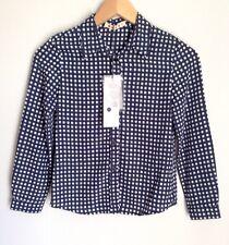MARNI Kids girls Blue Black White Check Shirt Size 7-8 Years Bnwt Designer Italy