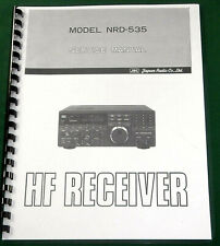 "JRC NRD-535 Service Manual: w/11""x17"" Schematics & Protective Covers"
