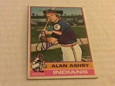1976 Topps 209 Alan Ashly Astros Autographed Auto Signed Card