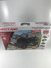 Meccano Metal Erector 4x4 Off-Road Truck 25 Models 443 Parts Motorized BA1569