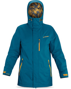 New Dakine Ledge II Insulated Snowboard Jacket Men's Large Moroccan Blue