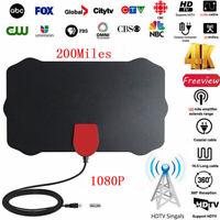 200 Millas Distancia Interior Digital TV Antena HDTV 1080P Amplificador de Señal
