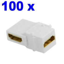 100 x 90 Degree Right Angled HDMI Female to Female Jack Coupler Adapter Keystone