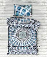 Indian Duvet Doona Cover Peacock Mandala Blanket Quilt Cover & Pillow Cover Boho