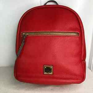 DOONEY & BOURKE  Pebble Leather Ronnie Backpack Red