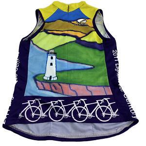 Voler Cycling Sleeveless Bike Women Jersey Club Raglan Bottle Pockets Sz X Sm