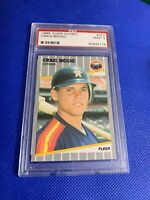 1989 Fleer Glossy Craig Biggio Houston Astros #353 PSA 9 MINT