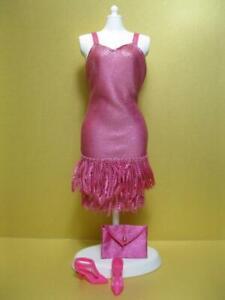 BARBIE DOLL 1999 FASHION AVENUE BOUTIQUE 18155 PINK FRINGE PARTY Flapper DRESS