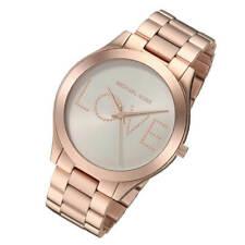 Michael Kors MK3804 Slim Runway Love Rose Gold-Tone Watch