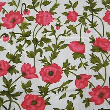 "Floral Printed Pure Cotton Fabric 40"" Wide Fabrics Crafting Material By 1 Metre"