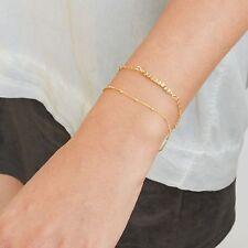 Gold Filled 14k Satellite Chain bracelet Handmade Women New Classic