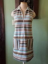70s Mod Striped Polyester Dress