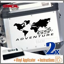 2x GS ADVENTURE Black/Grey BMW F650 R1150 R1200 GS ADESIVI PEGATINA STICKERS