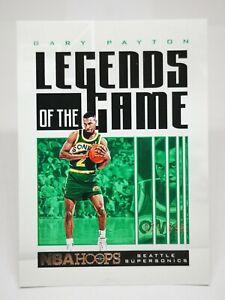 Panini Hoops 2020-21 N19 card NBA /699 Gary Payton Legends Of The Game #6