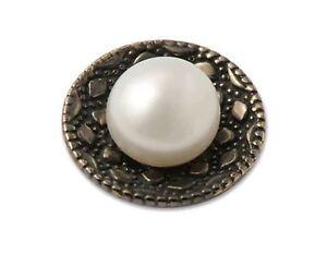 RING DING Top Black Glamour Perle - ca. 8 mm - rutheniert - 22543169