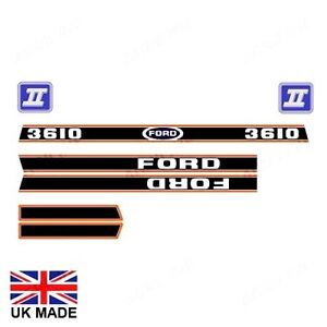 BONNET DECAL SET FOR FORD 3610 FORCE II TRACTORS
