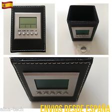 Bote Porta bolígrafos Con Reloj Fecha Termómetro Alarma Oficina Escritorio Casa