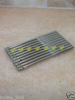 """10 x 5mm THK Premium Grit 50 Diamond coated drill bit hole saw drills 1/8"""" shank"""