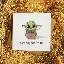 Yoda Only One For Me - Cute Valentine/Anniversary/Birthday Card