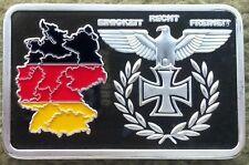 1 Unze Barren Silberauflage, Bundesrepublik Deutschland - Eisernes Kreuz - Neu