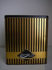 Darrell Lea Collectors Tin Gold & Black Stripes Collectable Advertising