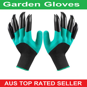 Garden Gloves with Claws for Women and Men outdoor Digging Planting Weeding AUS
