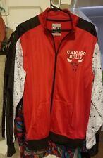 Vintage Chicago Bulls Windbreaker Track Jacket Zipper Front Size Large EXC!