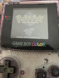 Pokemon Cristal Gameboy Color Español (Funcionando) + Funda Protectora