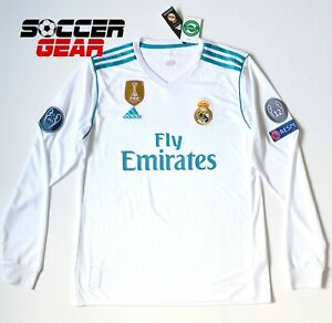 Real Madrid Home Jersey UEFA Champions League Long Sleeve 17/18