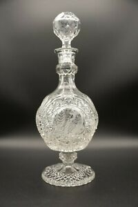 Hofbauer Byrdes Crystal Footed Decanter w/ Stopper - Birds - Made in Germany