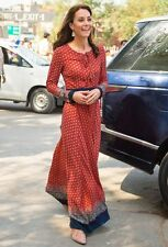 NEW Glamorous Indian Maxi Red Print Dress As Worn By Kate Middleton Size 10
