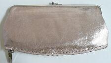 Hobo International Mavis Wallet Clutch Light Pink Shimmer Leather Photo Holder